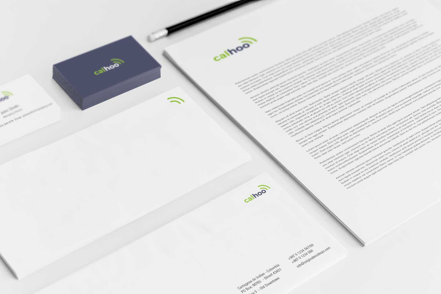 Sample branding #3 for Calhoo