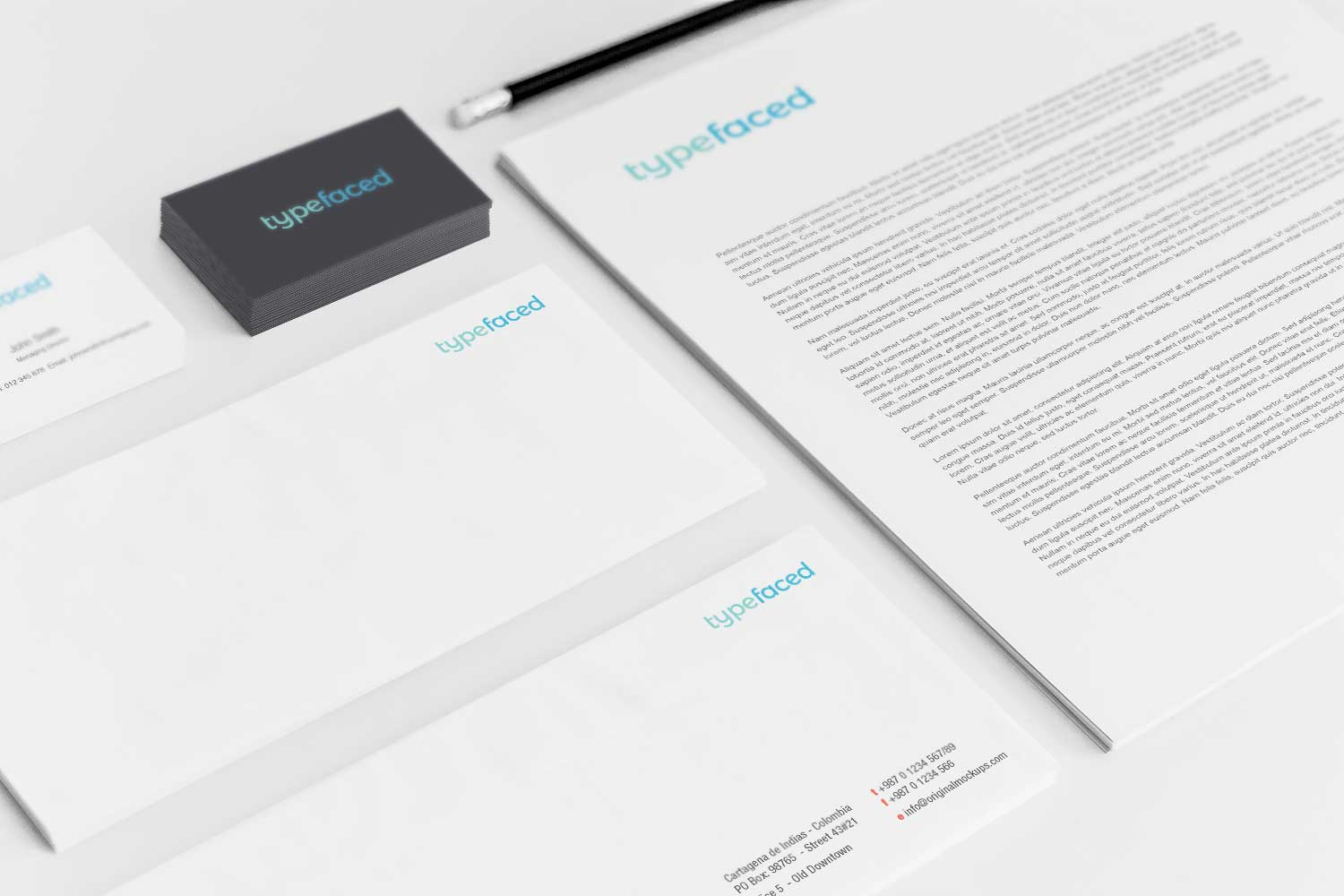 Sample branding #3 for Typefaced