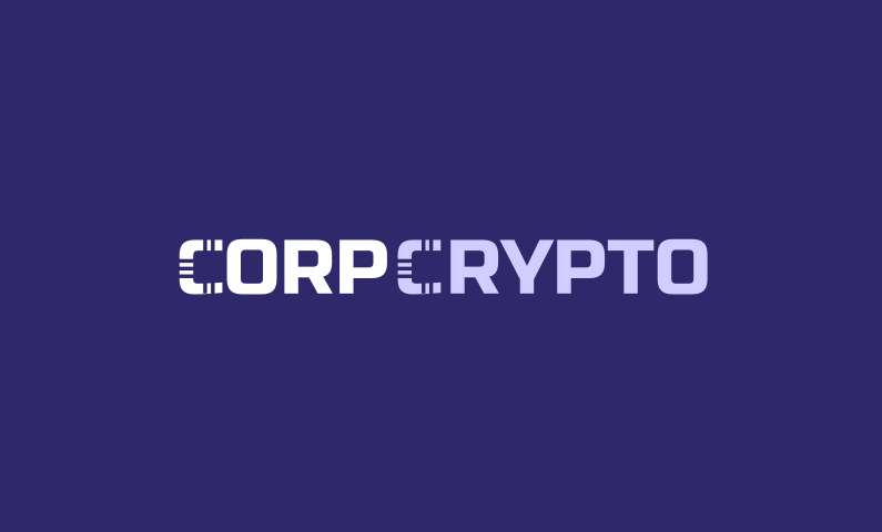 corpcrypto logo - Brand name for a company in cryptocurrency