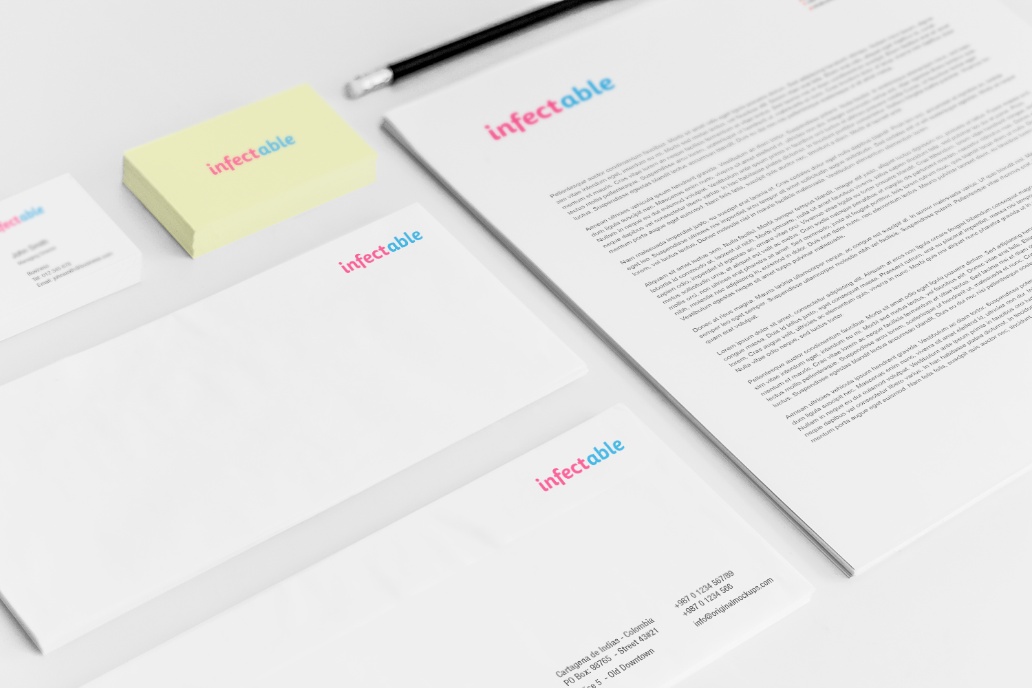 Sample branding #3 for Infectable