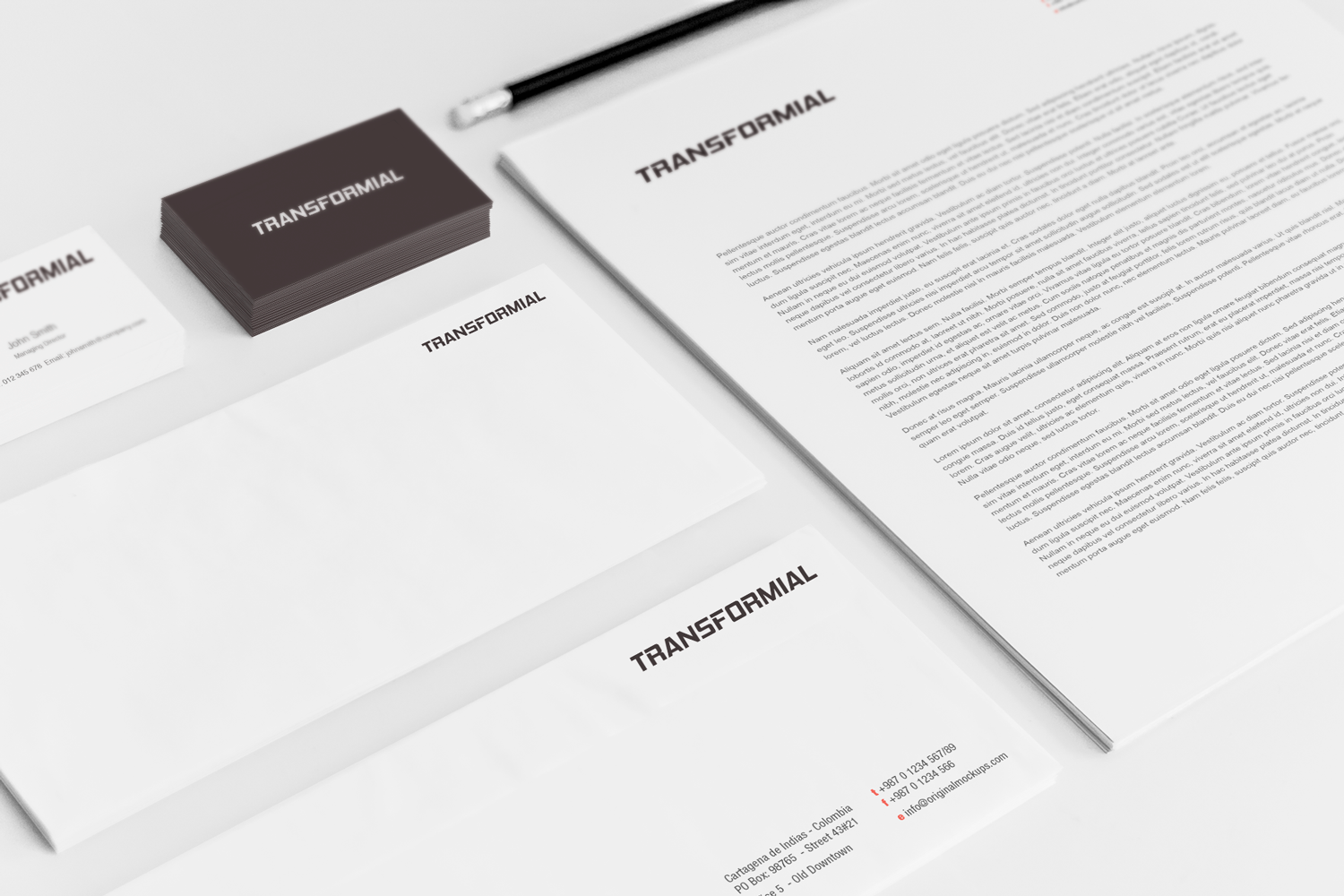 Sample branding #3 for Transformial
