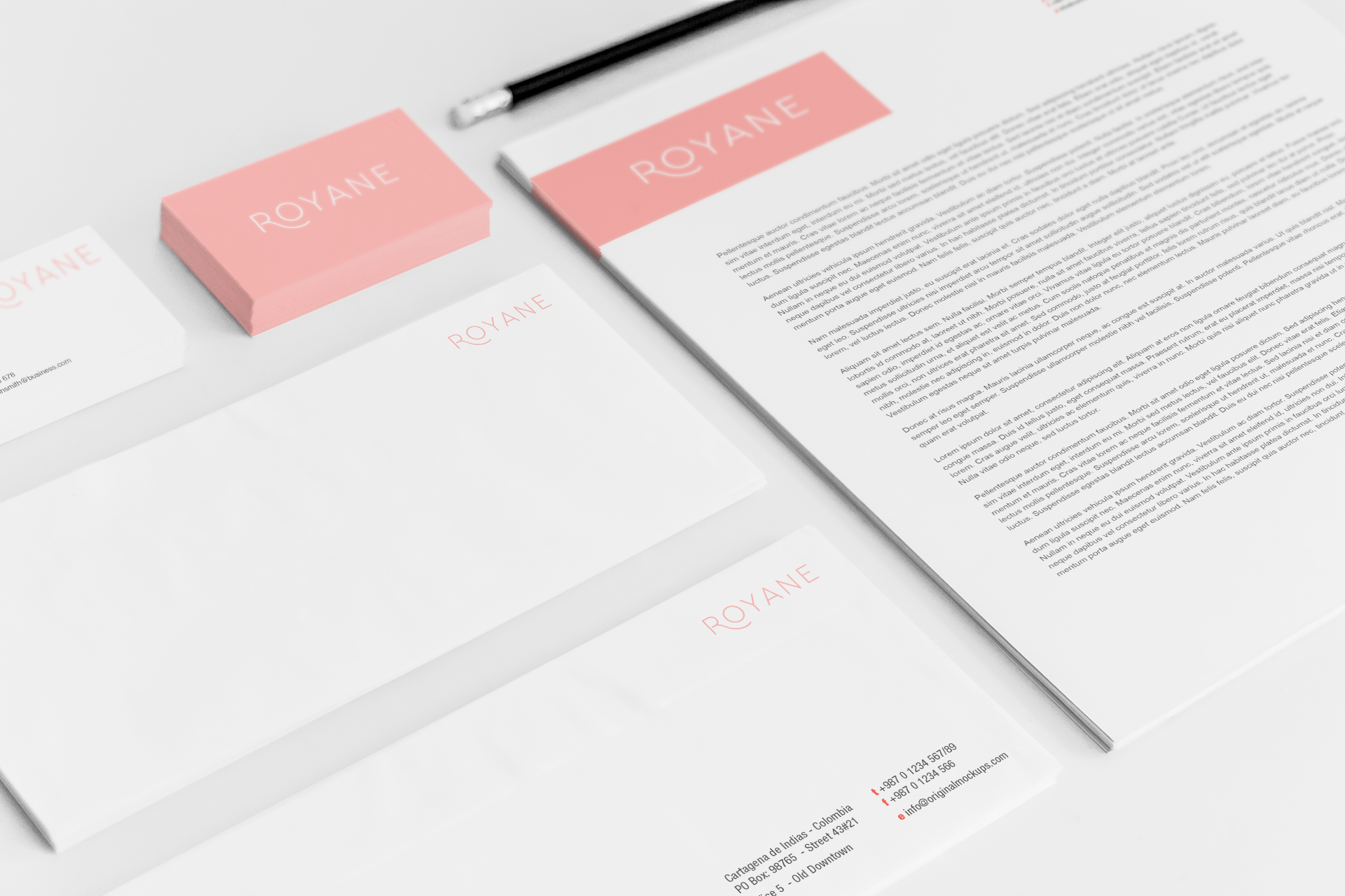 Sample branding #3 for Royane