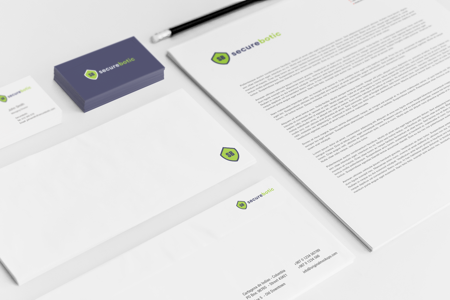 Sample branding #3 for Securebotic