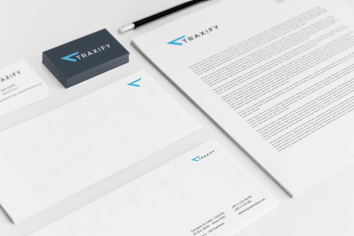 Sample branding #3 for Traxify