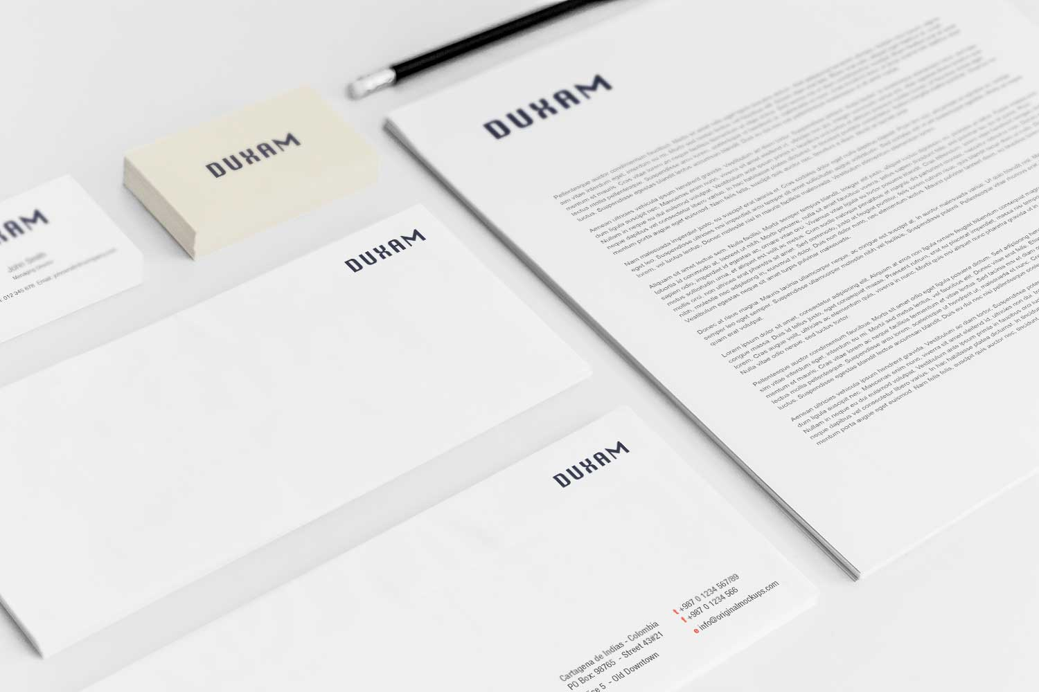 Sample branding #3 for Duxam