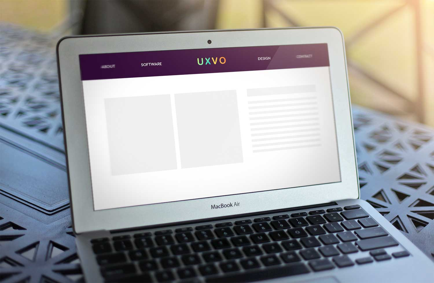 Sample branding #2 for Uxvo