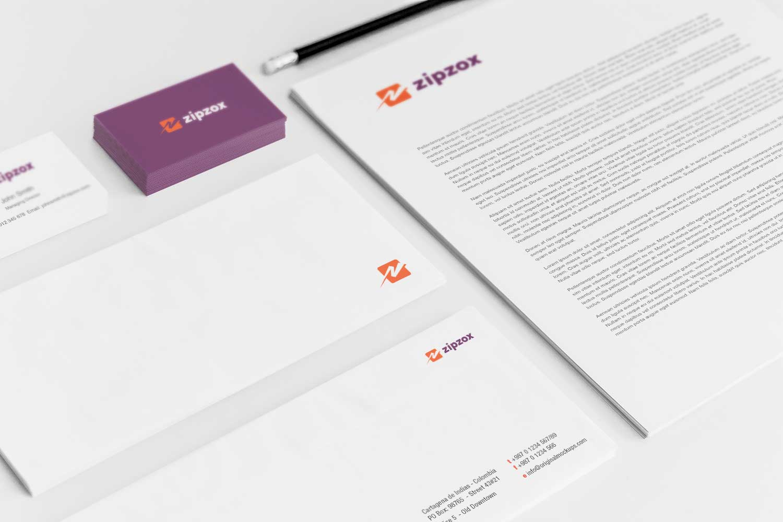 Sample branding #3 for Zipzox