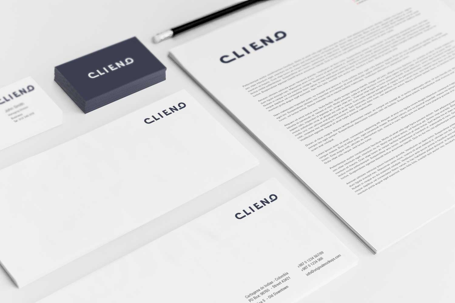 Sample branding #3 for Clieno