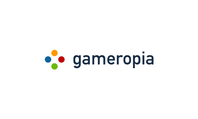 gameropia logo - Domain name for a startup in the gaming industry
