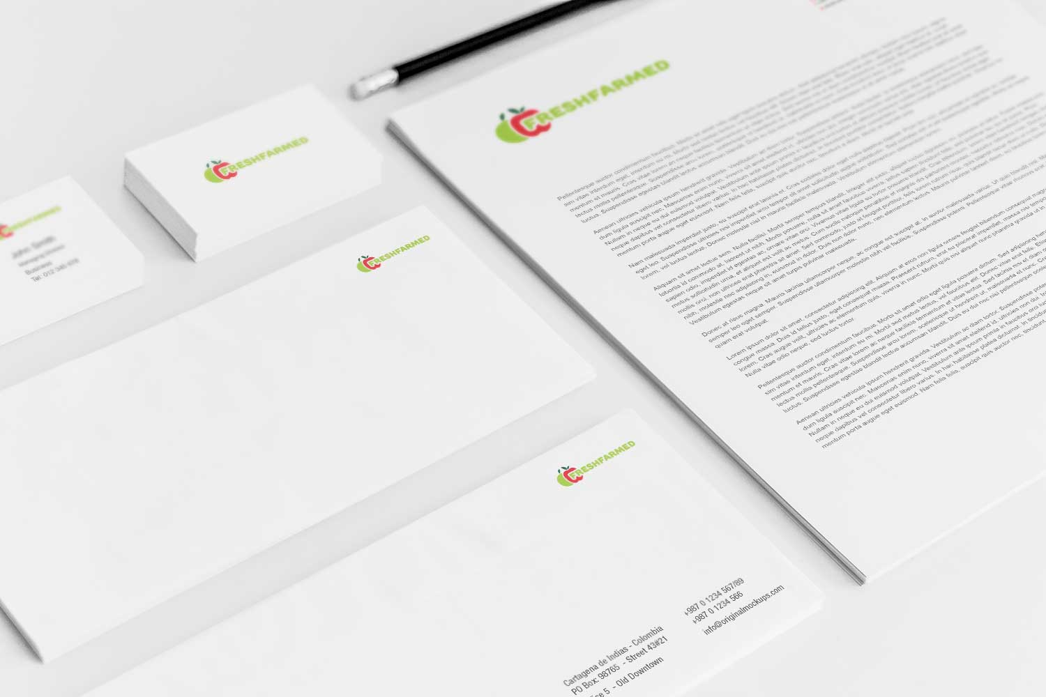 Sample branding #3 for Freshfarmed
