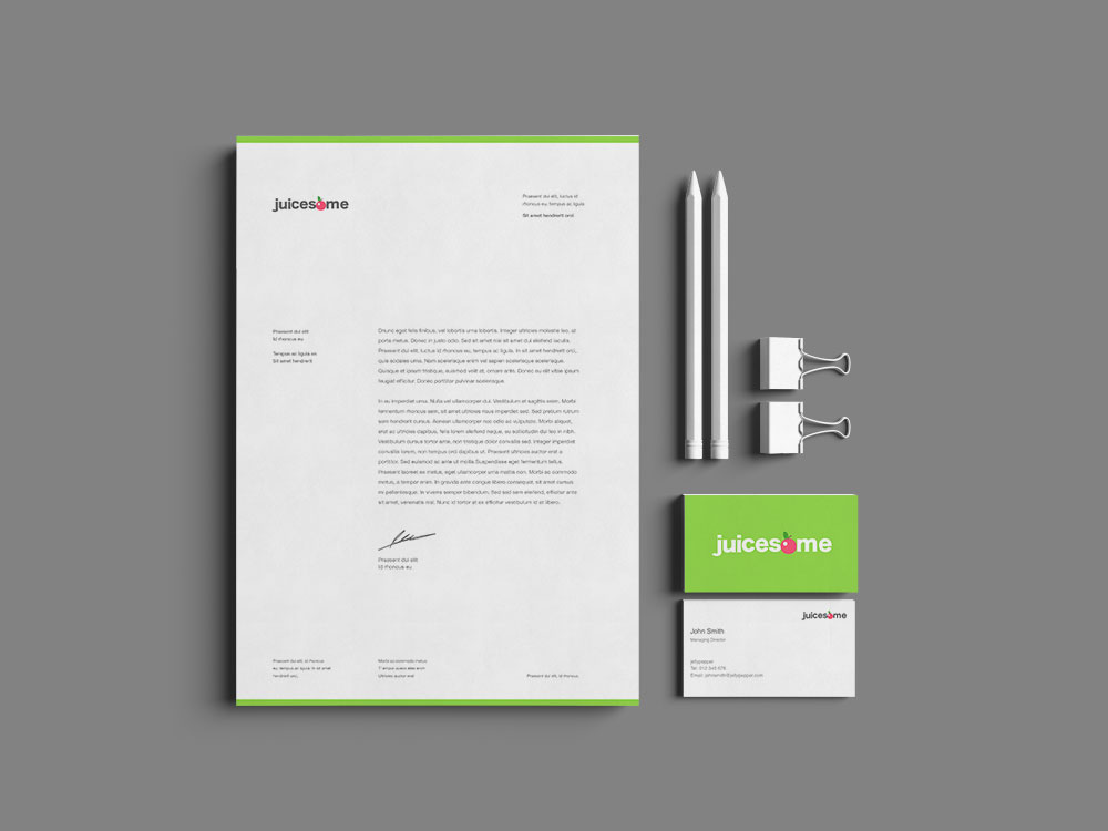 Sample branding #2 for Juicesome