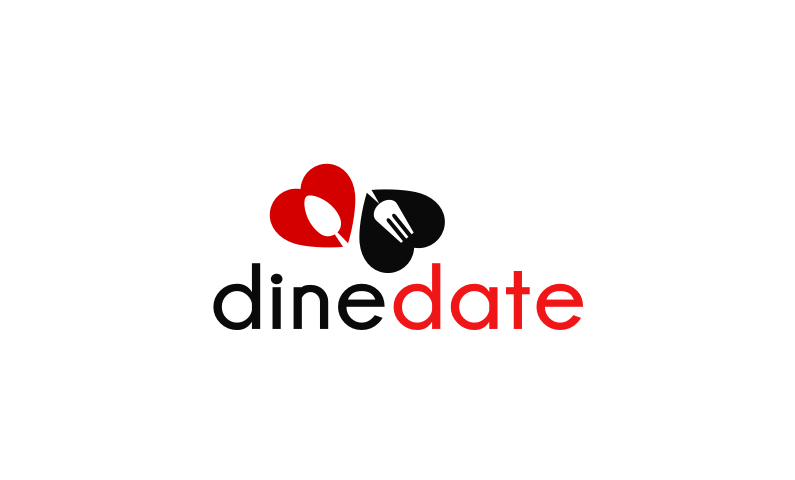 dinedate logo - Business name for a company in the dating industry