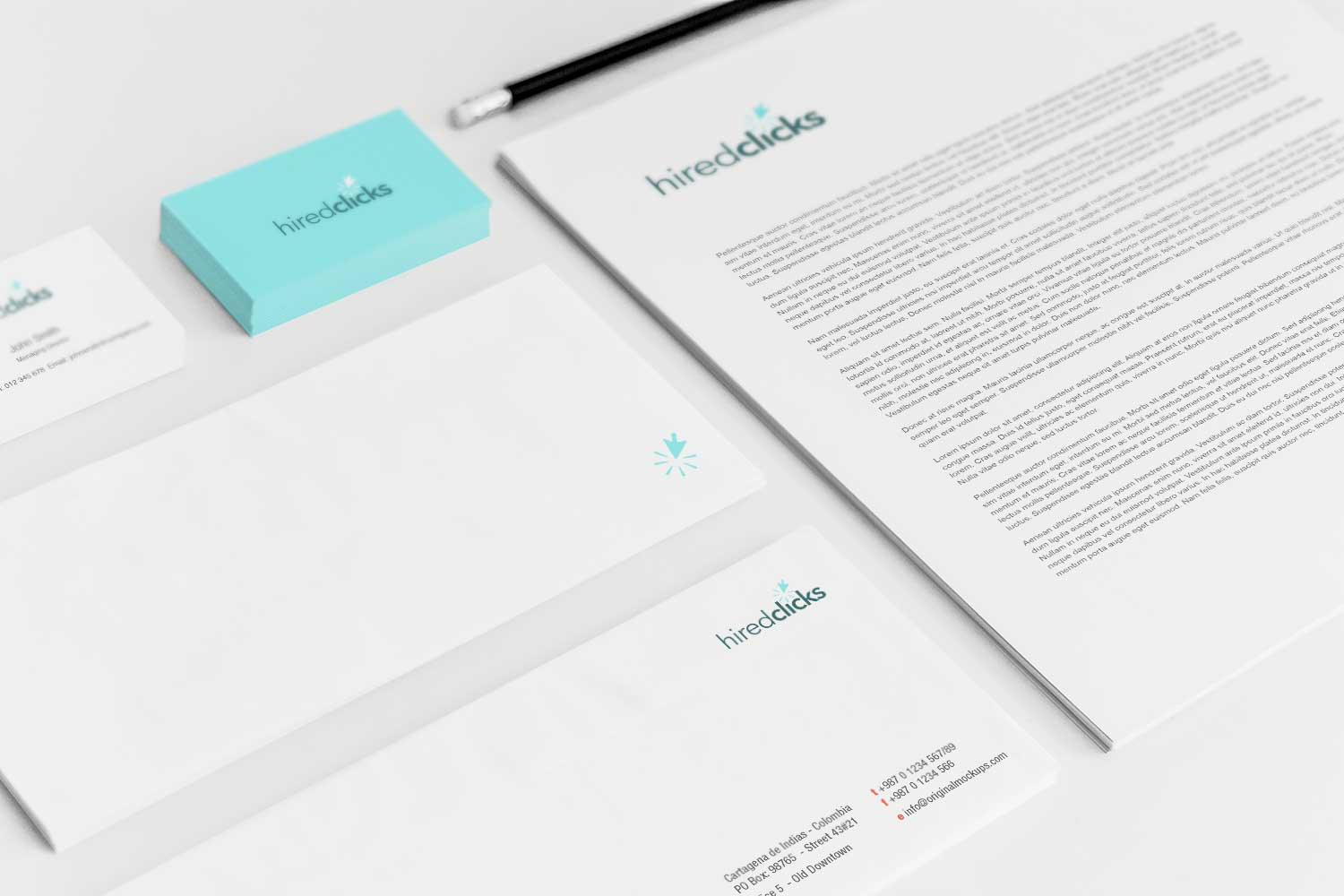 Sample branding #3 for Hiredclicks