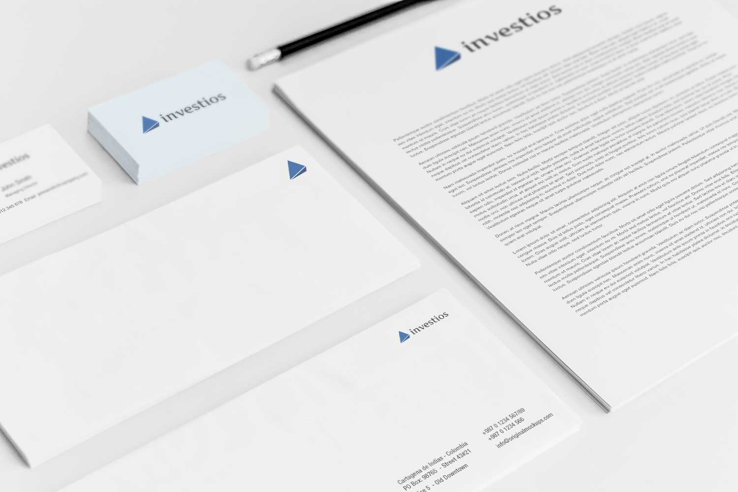 Sample branding #3 for Investios