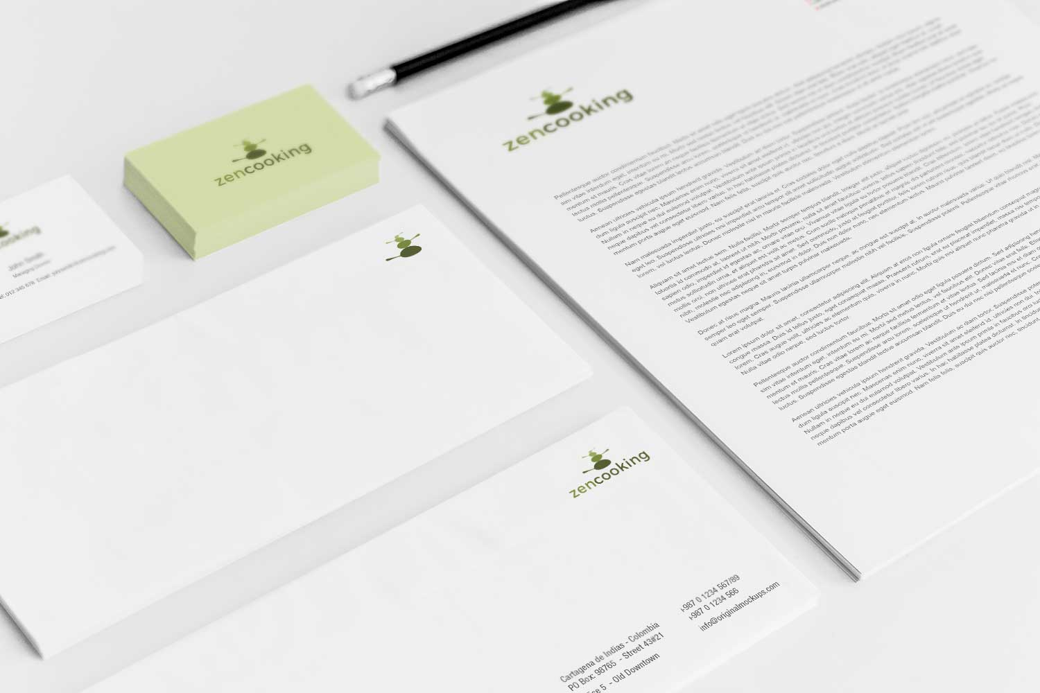 Sample branding #3 for Zencooking