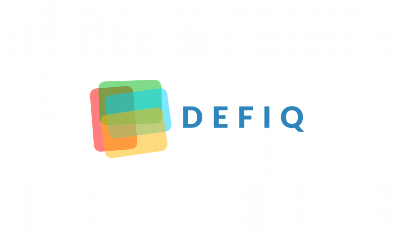 DefIQ logo - Abstract 5-letter domain