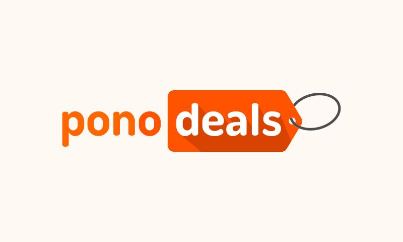 Ponodeals - Sales promotion startup name for sale