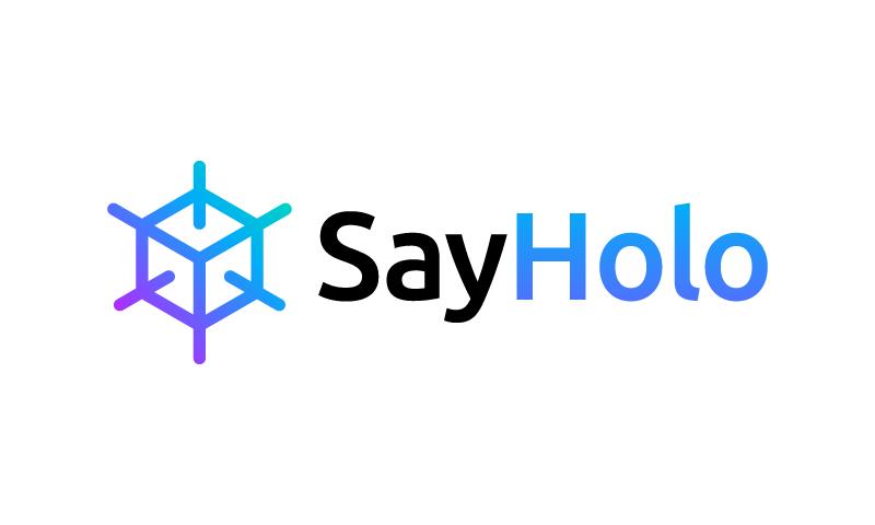 Sayholo - Technology startup name for sale