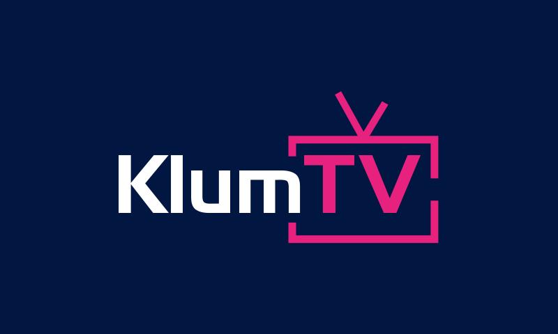 Klumtv - E-commerce startup name for sale