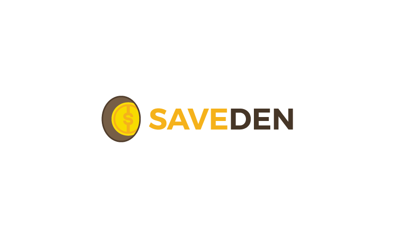 SaveDen logo - Powerful domain name for a shopping service