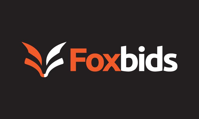 Foxbids - E-commerce startup name for sale