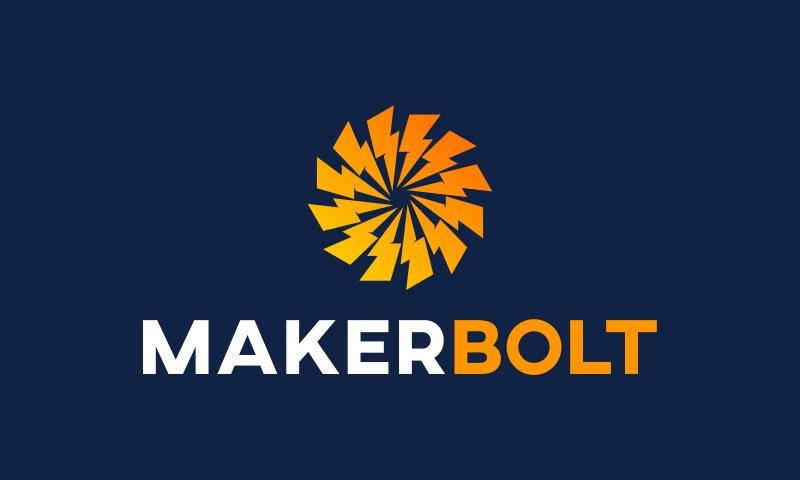 Makerbolt - Design startup name for sale