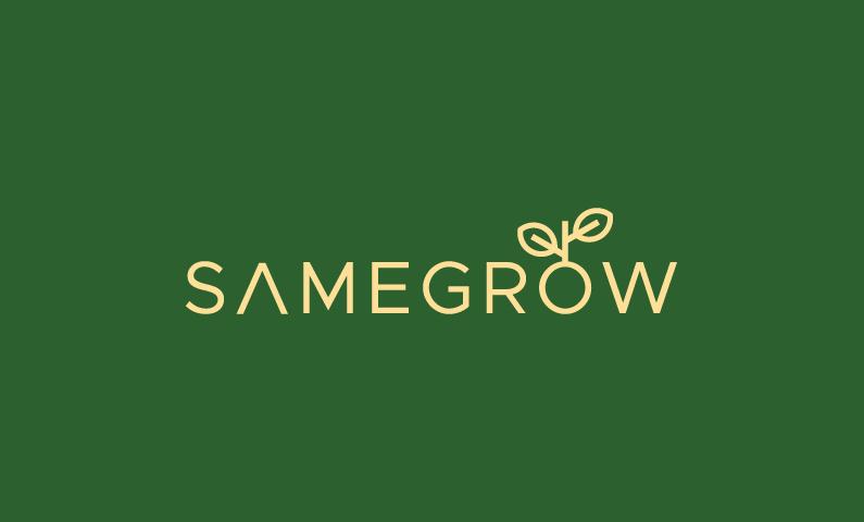 Samegrow - Farming domain name for sale