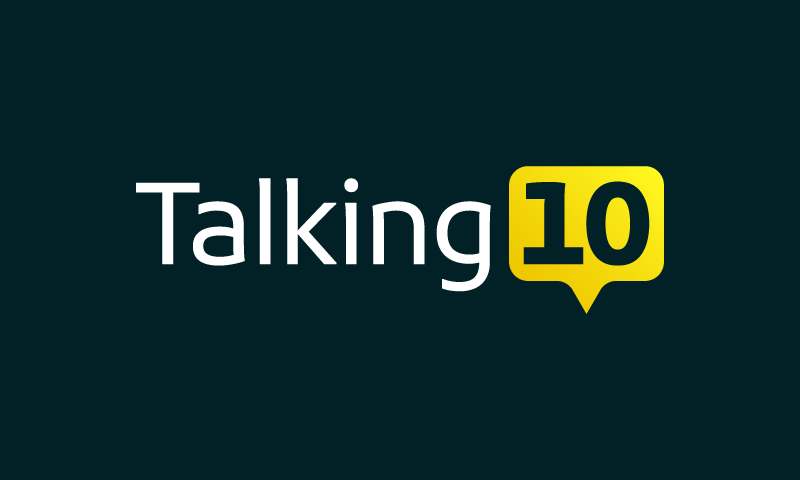 Talking10 - Business domain name for sale