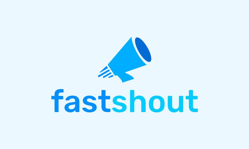 Fastshout - Social startup name for sale