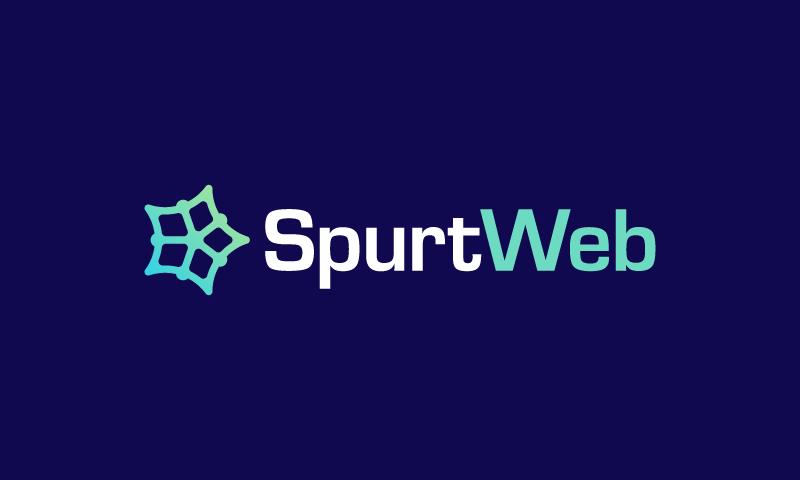 Spurtweb - Internet startup name for sale