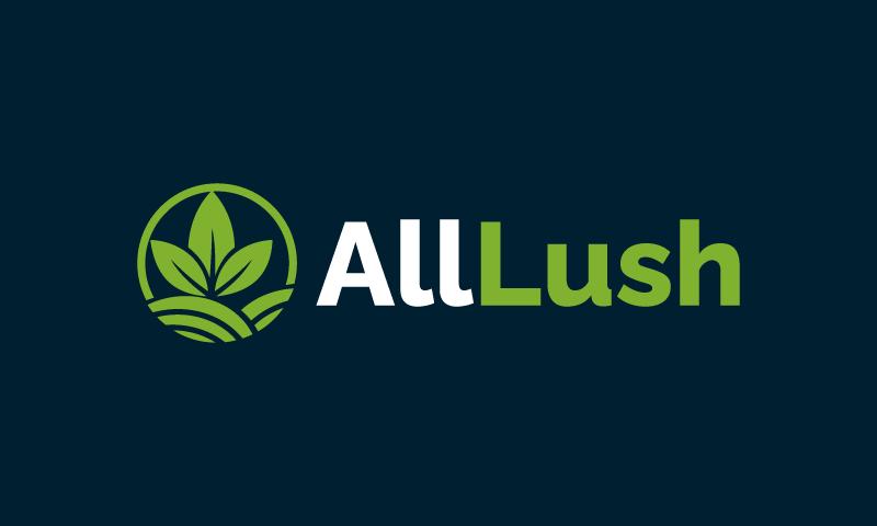 Alllush - Technology startup name for sale