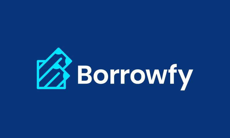 Borrowfy - Finance company name for sale