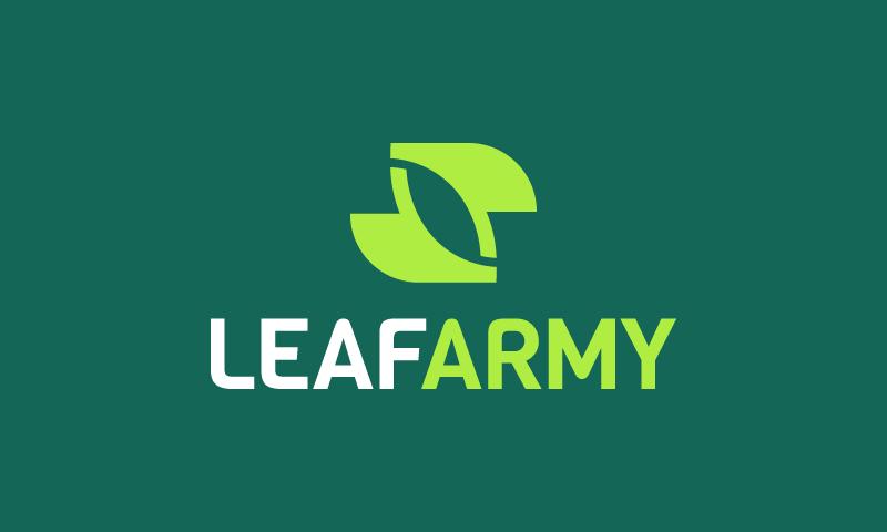 Leafarmy - Retail company name for sale