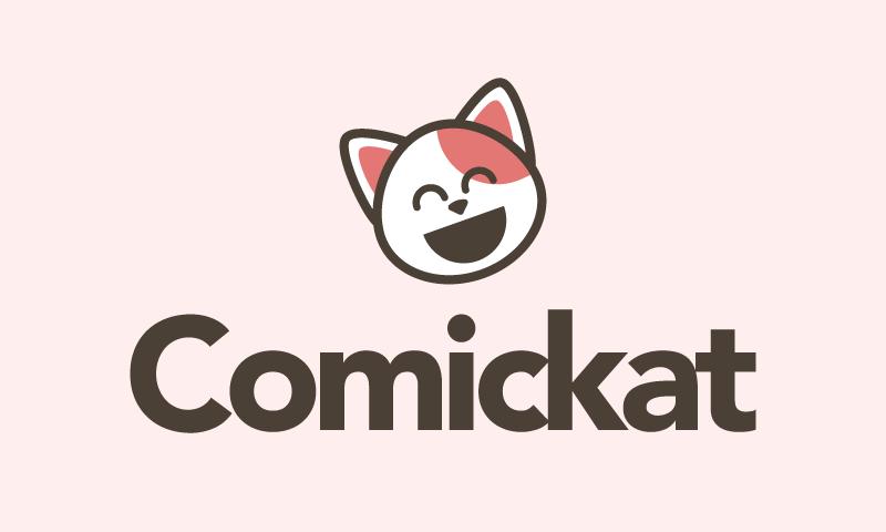 Comickat - Cartoon startup name for sale