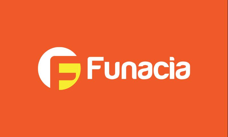 Funacia - Entertainment startup name for sale