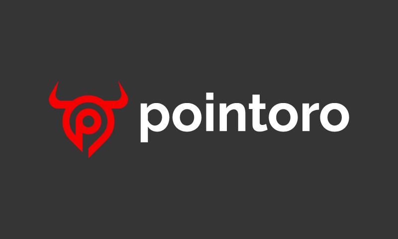 Pointoro - Retail startup name for sale
