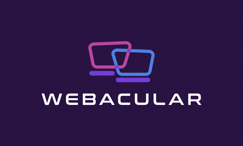Webacular - Brand name for a company in tech