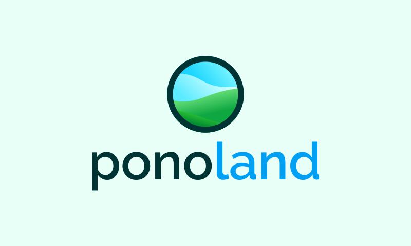 Ponoland - Real estate startup name for sale