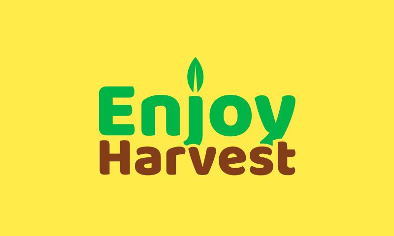 Enjoyharvest - Agriculture startup name for sale