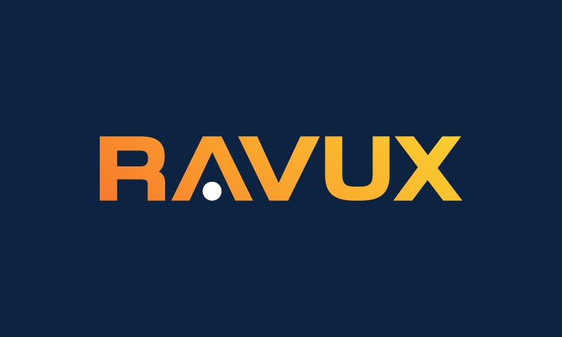 Ravux - Brandable domain name for sale