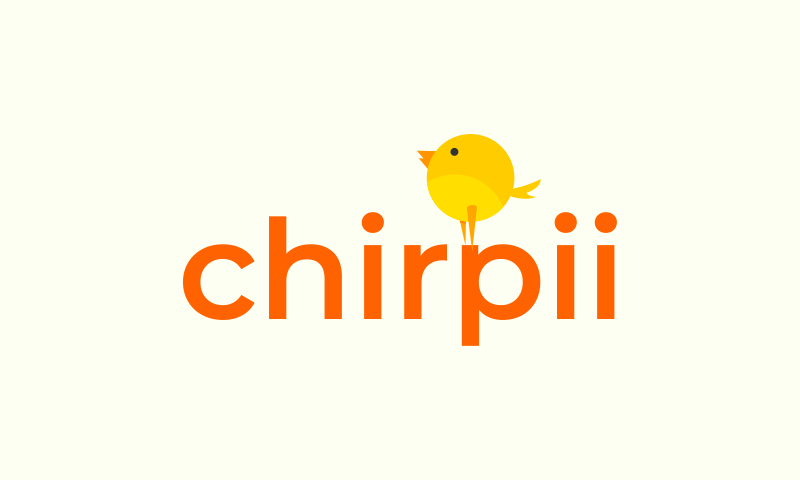 Chirpii - Social domain name for sale