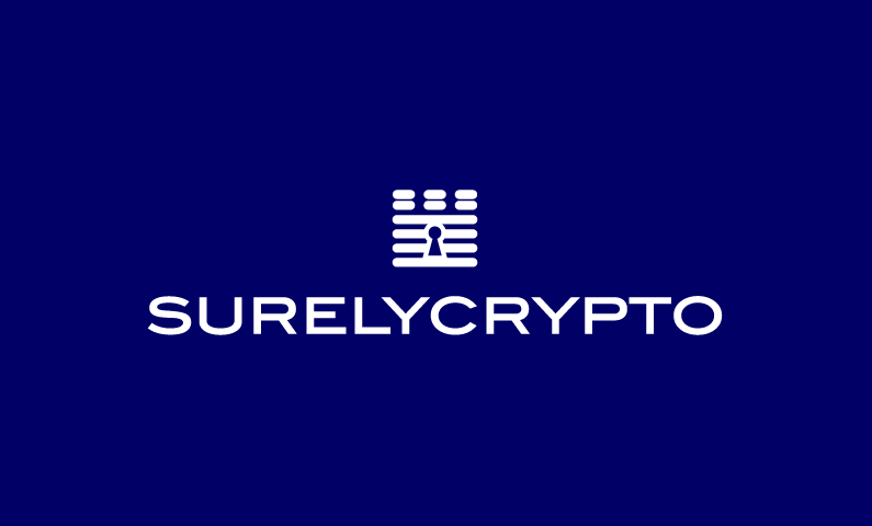 Surelycrypto - Cryptocurrency business name for sale
