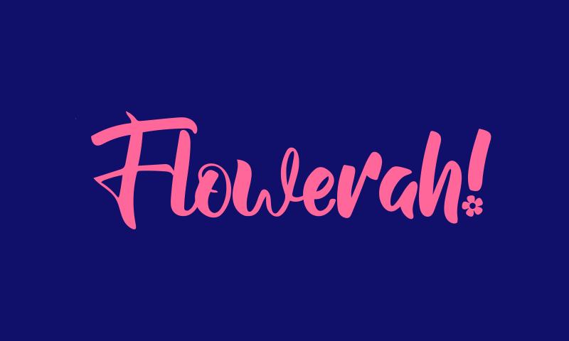 Flowerah - E-commerce startup name for sale