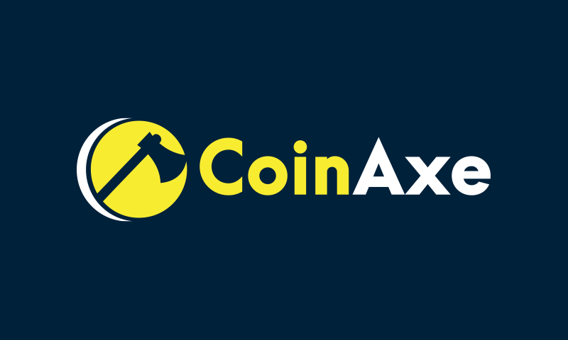 Coinaxe - Cryptocurrency company name for sale