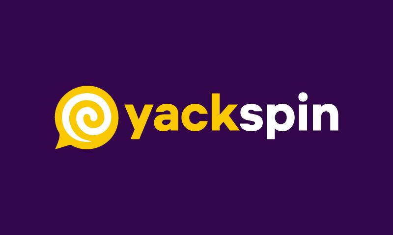Yackspin - Technology startup name for sale