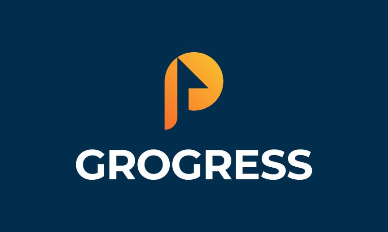 Grogress - Finance company name for sale