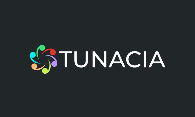 Tunacia - Audio startup name for sale