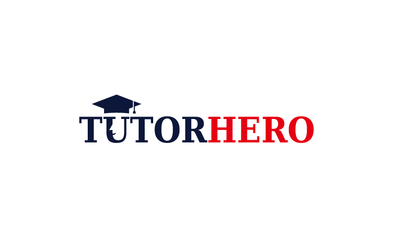 TutorHero logo - Business name for a company in the education industry