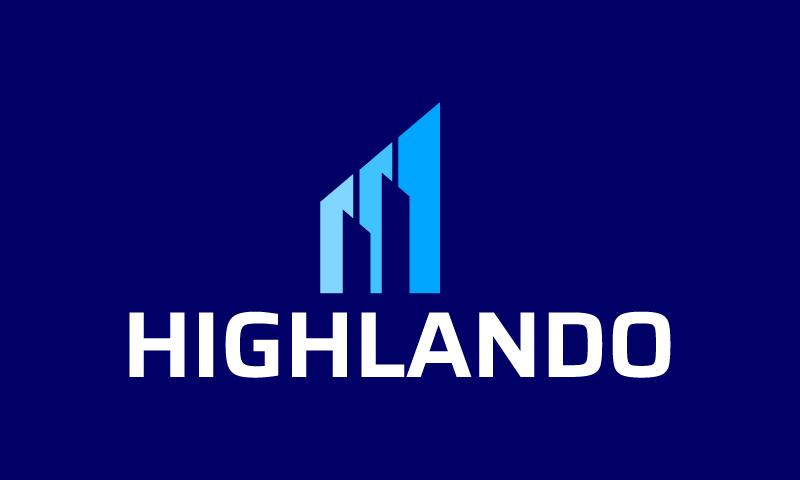 Highlando - Business domain name for sale