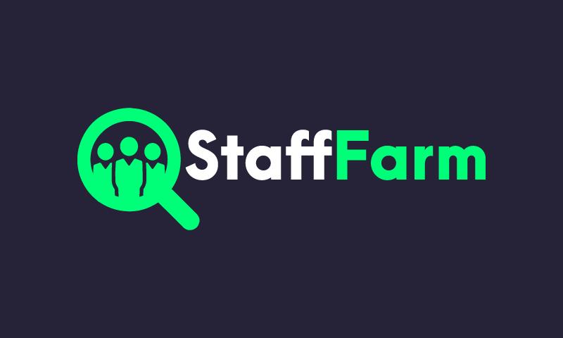 Stafffarm - HR startup name for sale